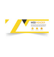 abstract web header design template yellow backgro vector image vector image