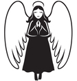Angel praying vector image vector image