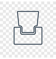 armchair concept linear icon isolated on vector image