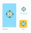 atoms company logo app icon and splash page vector image vector image