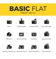 Basic set of Wallet icons vector image
