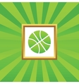 Basketball picture icon vector image vector image