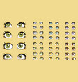 Beautiful women eyes vector image