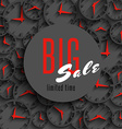 big sale time poster mockup clock hands shop vector image