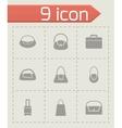 black bag icon set vector image