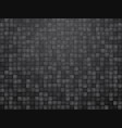 black checkered tiled background vector image vector image