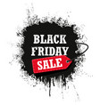 black friday sale isolated on a white background vector image