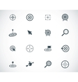 black target icons set vector image vector image