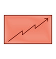 board presentation graph arrow growth vector image