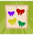 bows selection hand drawn style on green vector image vector image