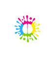 brain paint logo icon design vector image vector image