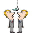 businessmen and money bait vector image