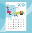 calendar 2019 july calendar calendar vector image vector image