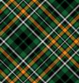 celtic fc diagonal green tartan seamless pattern vector image vector image
