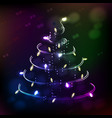 christmas tree symbol of happy new year vector image vector image
