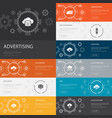 cloud storage infographic 10 line icons banners vector image vector image