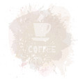 coffee background or banner flayer web print vector image vector image