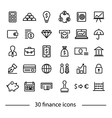 colliction of finance icons vector image