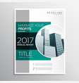 company annual report business brochure design vector image vector image