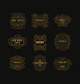 decorative golden logo set in vintage style vector image