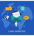 E-mail Marketing Concept Art vector image vector image