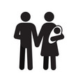 family silhouette icon vector image
