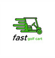 fast golf cart vector image