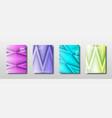 future template design with geometric triangle vector image