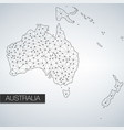 geometric australia continent light version vector image