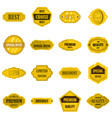 golden labels set flat icons vector image vector image