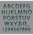 Halloween Bone Isometric Font vector image