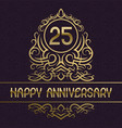happy anniversary greeting card template for vector image vector image