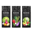 Healthy vegetable food sketch banners set vector image vector image