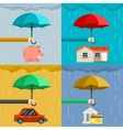 Insurance concept security of property in flat vector image vector image