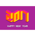 Isometric Happy New Year 2017 in colorful 3d vector image