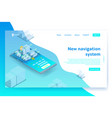 isometric navigation system banner vector image