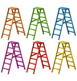 Ladder in six colors vector image vector image