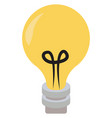 lighting bulb on white background vector image vector image