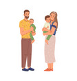 mature age couple children happy family together vector image vector image