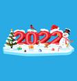 merry christmas and new year greeting xmas card vector image vector image