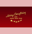 merry christmas flying white santa claus red vector image vector image