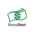 money sheet logo concept design symbol graphic vector image vector image