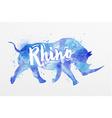 painted animals rhino vector image vector image