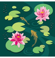 Quiet pond vector image