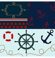 Sea theme elements for scrapbooking with textures vector image