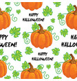 seamless happy halloween pattern vector image vector image