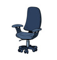 simple office work chair isolate on a white vector image
