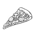 slice pizza vector image