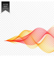 smoky yellow red wave background vector image