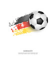soccer ball on germany flag vector image vector image